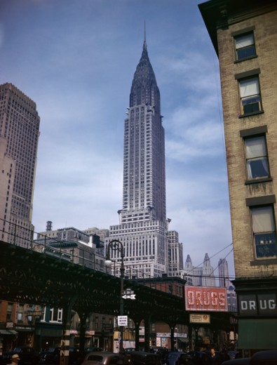 Stock Photo: 3120-45927 Low angle view of a skyscraper, Chrysler Building, Manhattan, New York City, New York, USA