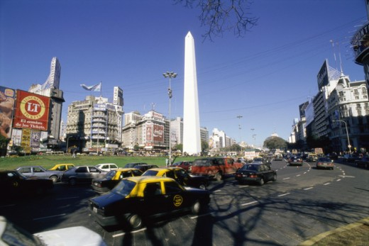 Stock Photo: 3138-216 Obelisk,  Buenos Aires, Argentina