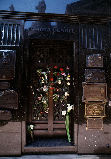 Stock Photo: 3138-333 Tomb of Eva Peron