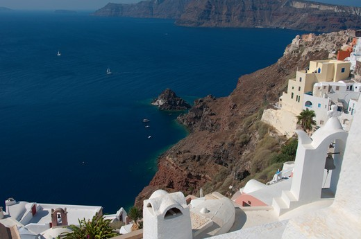 Stock Photo: 3138-537034 High angle view of a town, Oia, Santorini, Cyclades Islands, Greece