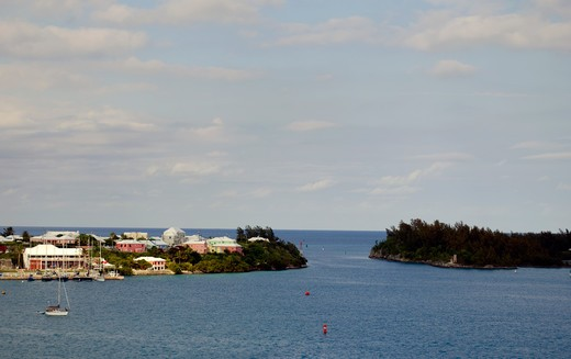 Stock Photo: 3138-537105 Bermuda, St. George Bay, entrance to St. Georges Harbour