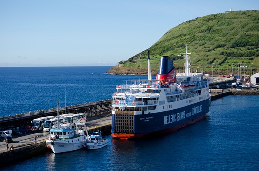Stock Photo: 3138-537113 Azores, Faial Island, Port of Horta