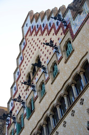 Stock Photo: 3138-537396 Architectural details of a building, Casa Amatller, Barcelona, Catalonia, Spain