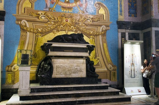 Stock Photo: 3138-537740 Pizzaro's tomb in the Basilica Cathedral of Lima, Lima, Peru