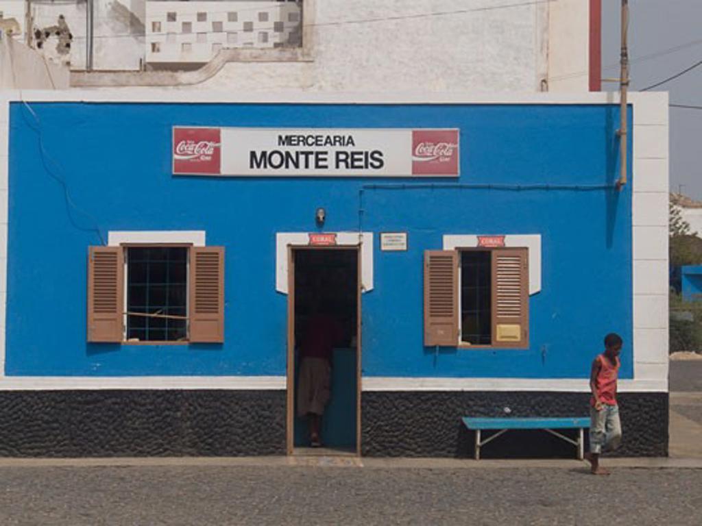 Facade of a grocery store, Palmeira, Sal, Cape Verde : Stock Photo