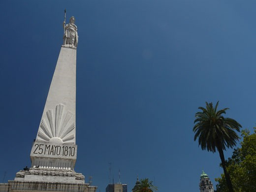 Low angle view of a monument, Piramide de Mayo, Plaza de Mayo, Buenos Aires, Argentina : Stock Photo