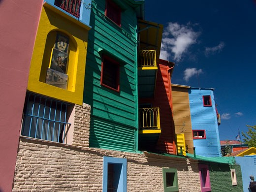 Stock Photo: 3138-804C Low angle view of buildings, La Boca, Buenos Aires, Argentina