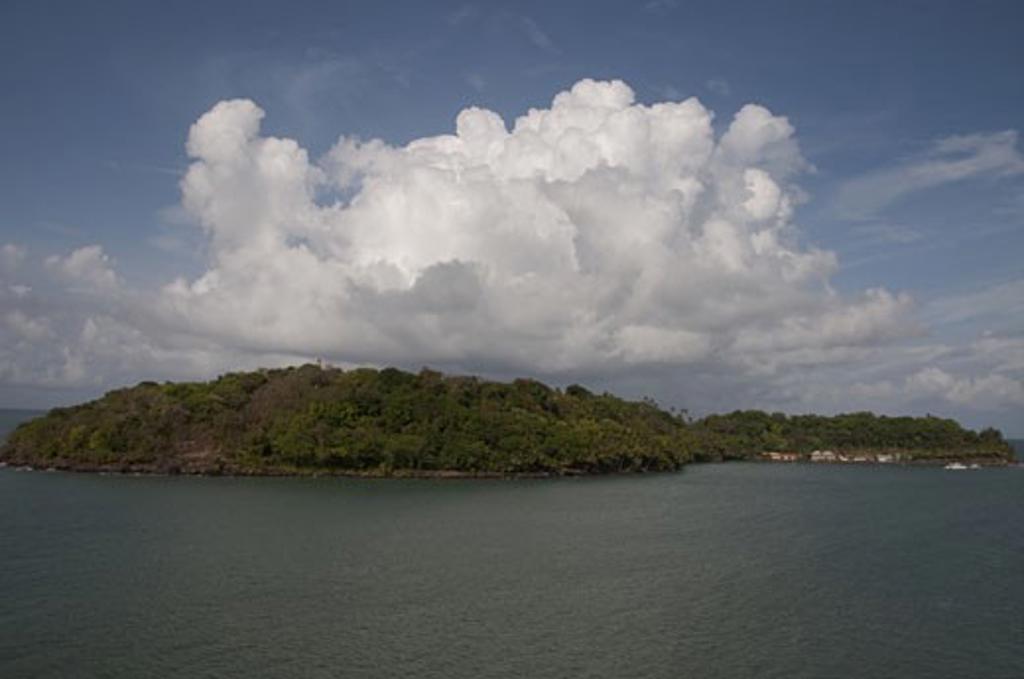 Clouds over an island, Guyana : Stock Photo