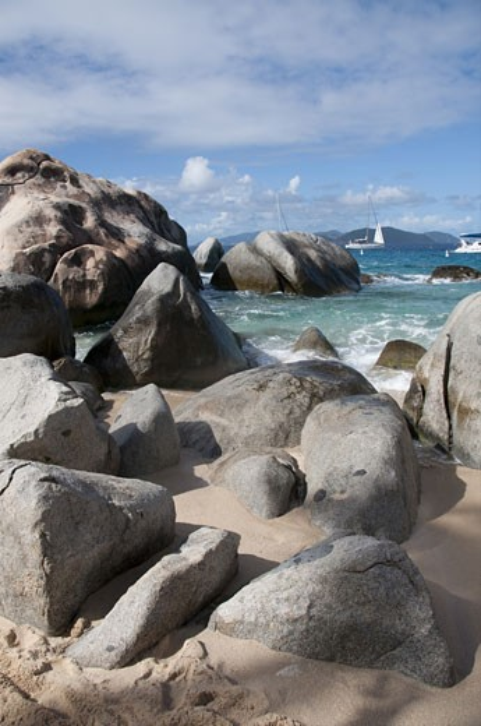 Stock Photo: 3138-876B Rocks on the beach, The Baths, Virgin Gorda, British Virgin Islands