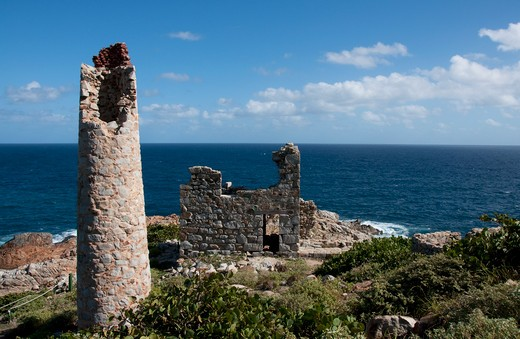Stock Photo: 3138R-995 Copper Mine Ruins, Virgin Gorda, BVI