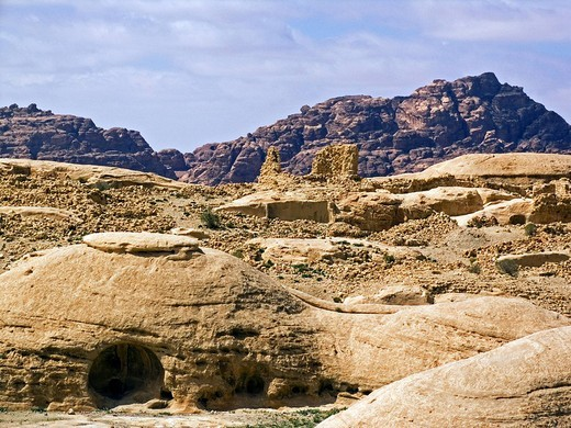 Stock Photo: 3153-574796 asia, jordan, petra area, around beida village, wveira, fortress of the crusaders