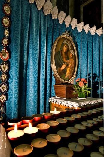 Stock Photo: 3153-575615 santa croce church, moneglia, liguria, italy