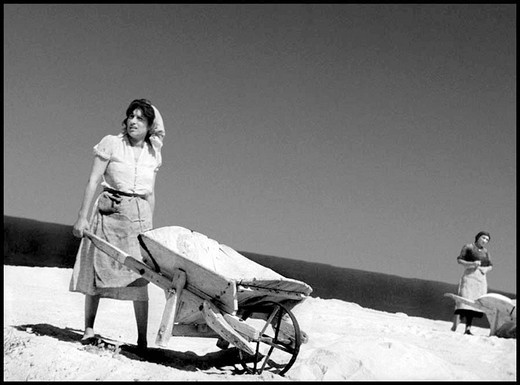 island of vulcano, anna magnani in the film vulcano, 1950, shot by william dieterle : Stock Photo