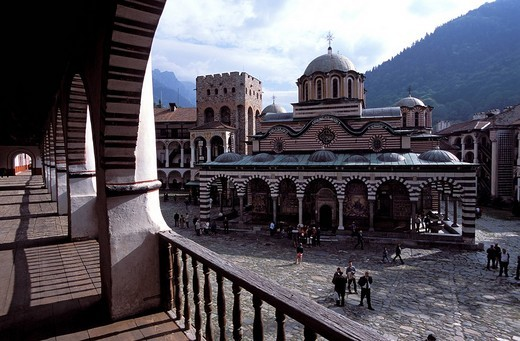 Stock Photo: 3153-575842 Rila Monastery. BULGARIA