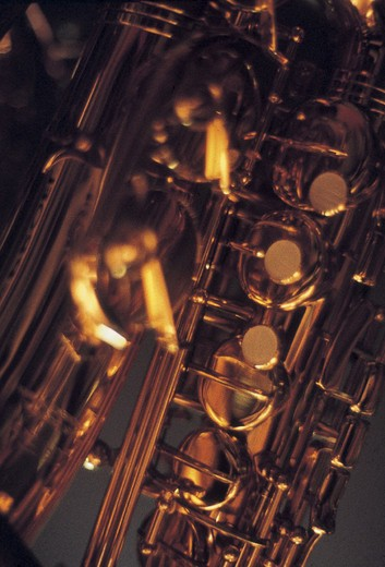 Stock Photo: 3153-576716 saxophone, detail
