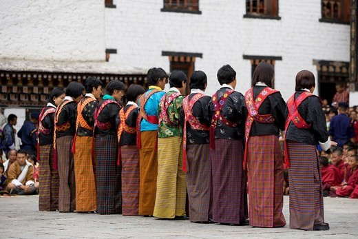 Bhutan. Thimphu. Tsechu Festival : Stock Photo