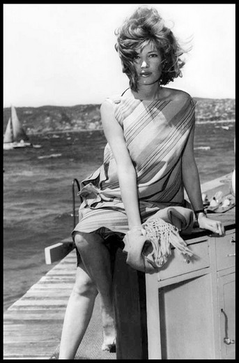 Stock Photo: 3153-577809 island of panarea, monica vitti in the film l´avventura, 1960, shot by michelangelo antonioni