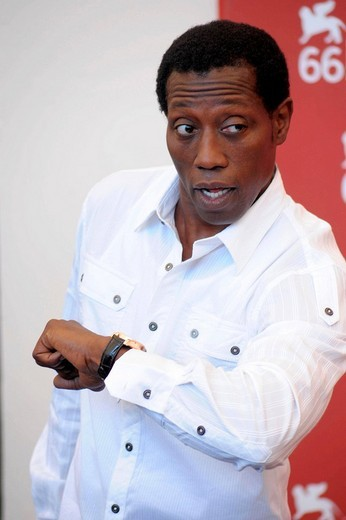 wesley snipes, venice 2009, 66th international venice film festival : Stock Photo