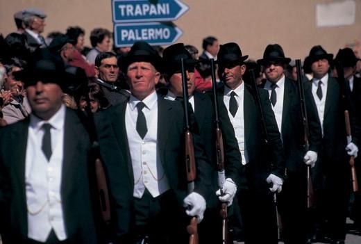italy, sicily, calatafimi, festa del crocifisso : Stock Photo