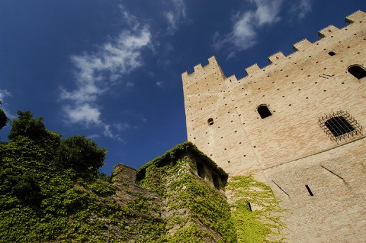 italy, marche, caldarola, pallotta castle : Stock Photo