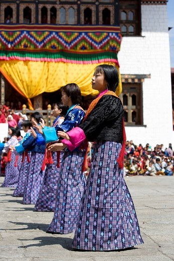 Bhutan. himphu. Tsechu Festival : Stock Photo