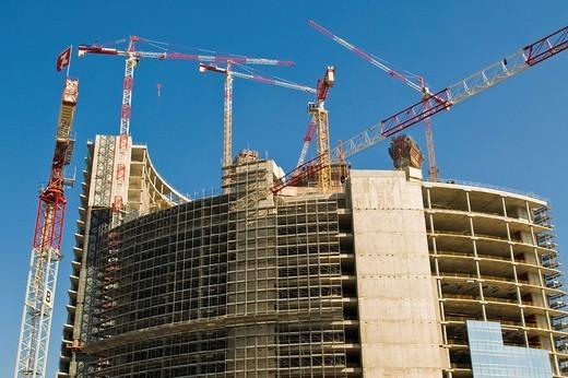 cantiere edile in zona porta garibaldi, milano, lombardia, italia : Stock Photo