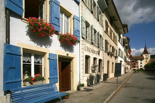 Stock Photo: 3153-580032 le landeron, cantone di neuchatel, neocastello, svizzera, europa