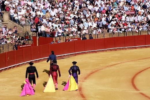 Stock Photo: 3153-582639 corrida, plaza de toros de la real maestranza, siviglia, spagna