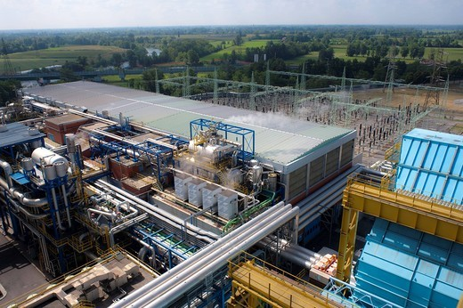 Stock Photo: 3153-585114 centrale termoelettrica a2a di cassano d´adda