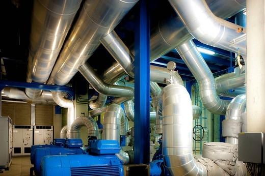canavese, centrale di cogenerazione per il teleriscaldamento della zona milano est : Stock Photo