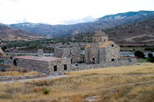 europe, cyprus, kelokedara village, panagia tou sinti monastery : Stock Photo