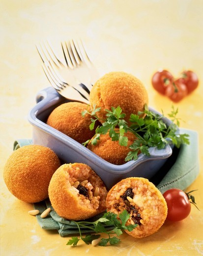 rice croquettes : Stock Photo
