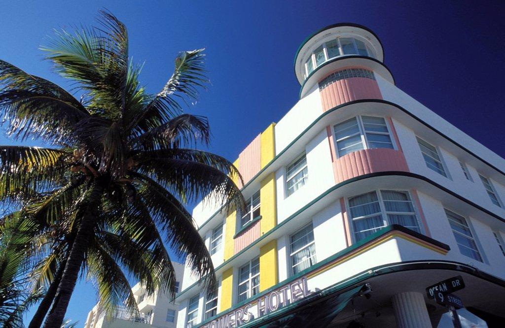 Stock Photo: 3153-588650 art deco district, miami beach, florida, usa