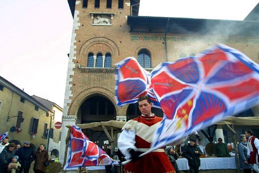 Stock Photo: 3153-588834 italy, veneto, montagnana, historical recalling