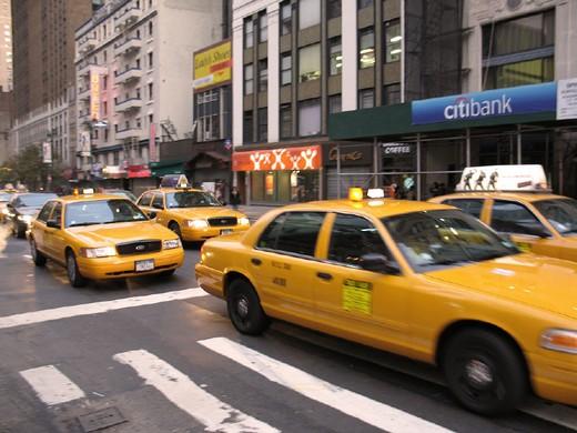 usa, new york, taxi : Stock Photo