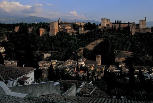the alhambra fortress, granada, spain : Stock Photo