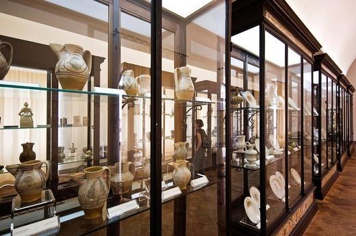 museum, deruta, umbria, italy : Stock Photo