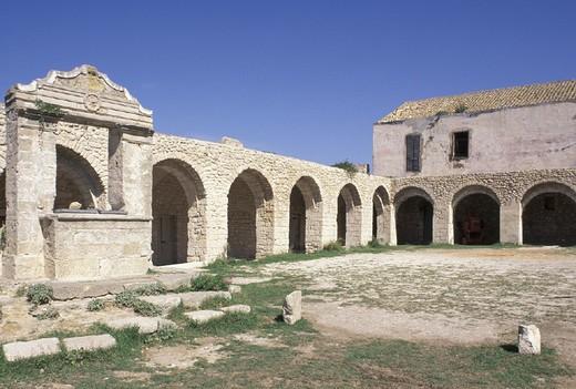 Stock Photo: 3153-595038 st. nicholas abbey, tremiti isles, italy