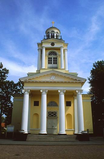 europe, latvia, ventspils, saint nicola church : Stock Photo