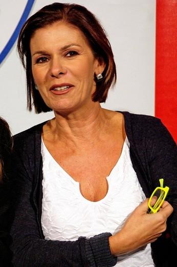 bianca berlinguer, journalist,milan 04_10_2008,freedom party meeting,photo marco becker/markanews : Stock Photo