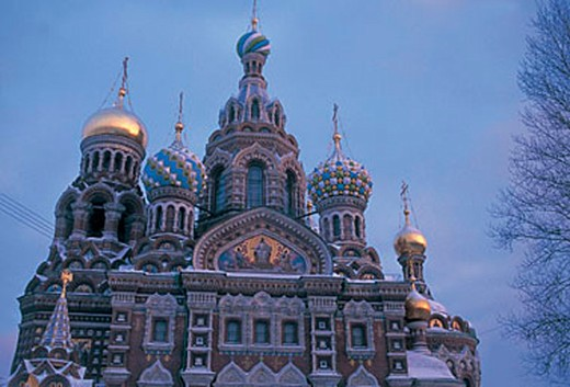 Stock Photo: 3153-596419 russia, saint petersburg, view of st. saviour church in winter