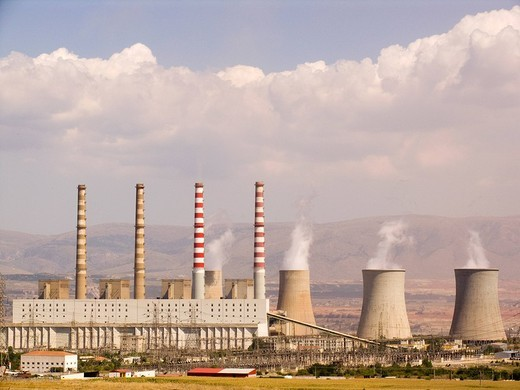 Stock Photo: 3153-596537 centrale elettrica, zona di kozari, grecia