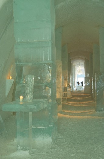 sweden, jukkasjarvi, ice hotel : Stock Photo