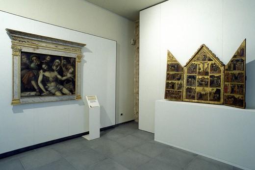 art gallery museum, trevi, italy : Stock Photo
