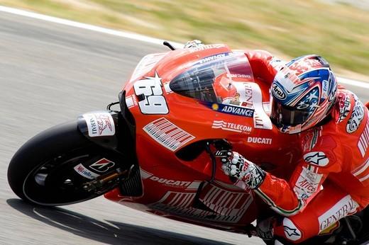 nicky hayden, mugello 2009, italian gp, free practice : Stock Photo