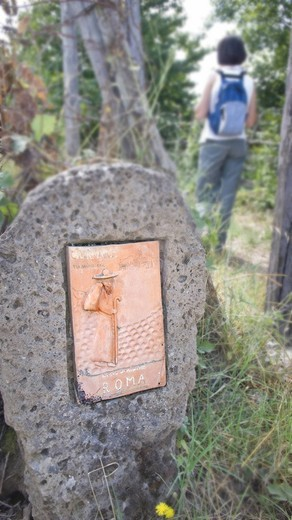 via francigena, lazio, italy, europe : Stock Photo