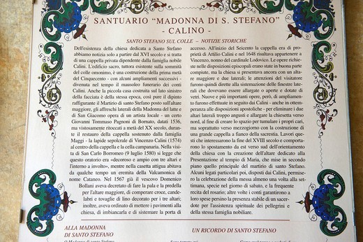 notizie storiche del santuario della madonna di santo stefano, calino, franciacorta : Stock Photo