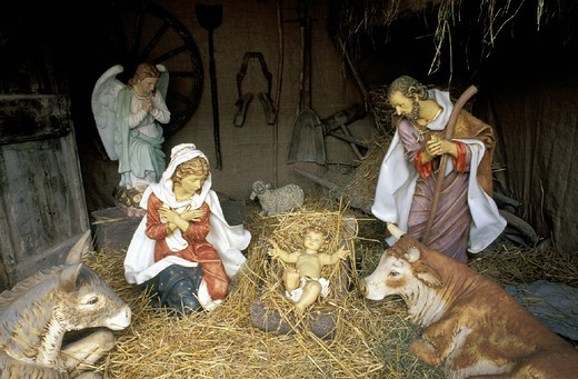 Stock Photo: 3153-600762 christmas crib, cavacurta, italy