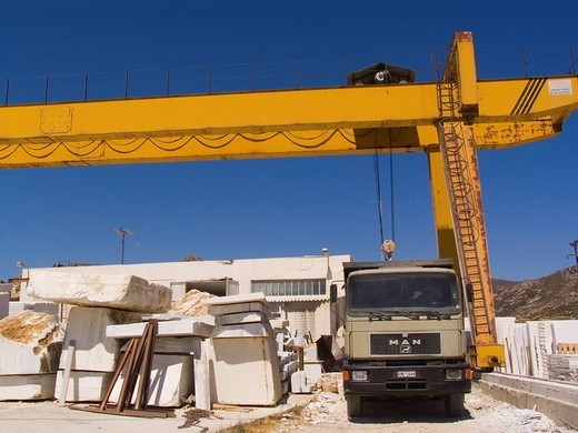 Stock Photo: 3153-601678 europe, greece, cyclades islands, island of naxos, marble quarry