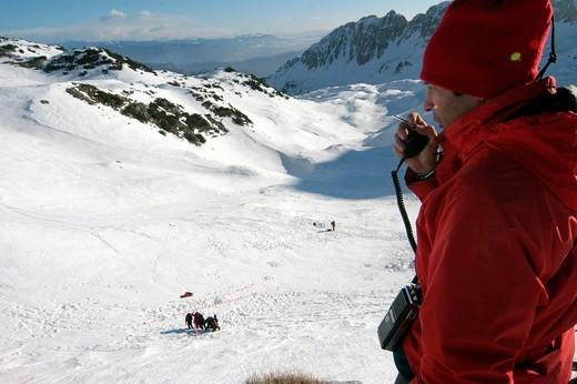 Stock Photo: 3153-601835 alpine rescue